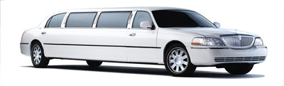 Stretchlimousine Lincoln Town Car weiß